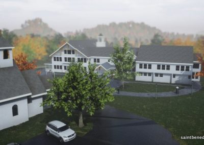 Rendering of planned expansion of IHM School in Still River MA.