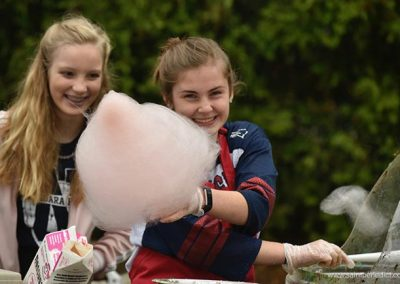 Students make Cotton Candy at IHM Bazaar.