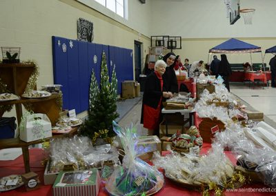 Baked goods table at Christmas Festival