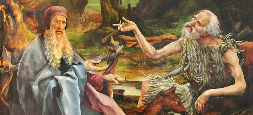 Saint Paul the Hermit and Saint Anthony of the Desert