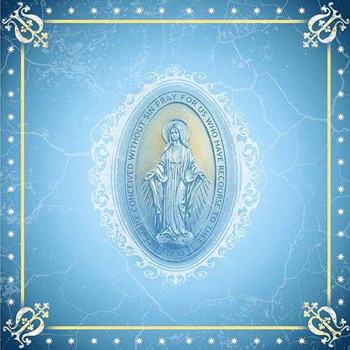 The Miraculous Medal Scarf - Designed by the Sisters