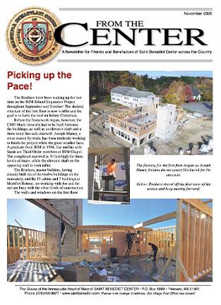 From the Center Newsletter November 2020
