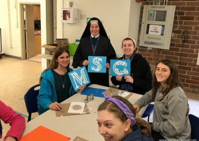 Paper Cutting with Sr Marie Bernard