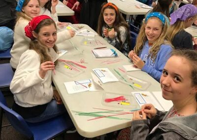 Quilling with Sr Gabriel