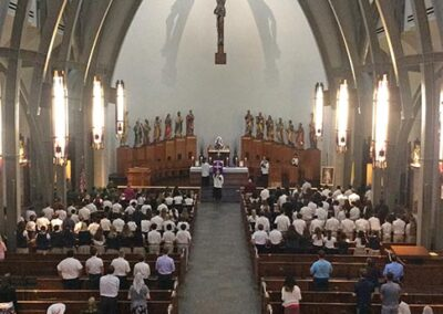 Students attend Latin Mass