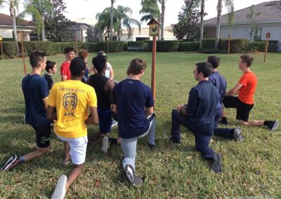 Stations of the Cross after soccer