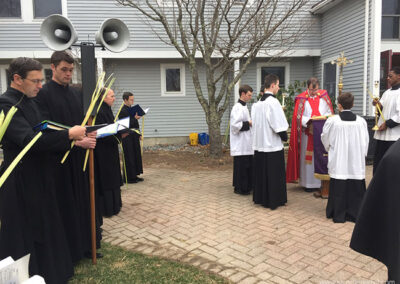 Palm Sunday at the Monastery