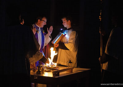 Lighting of the New Fire on Holy Saturday
