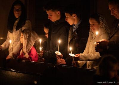 Easter Vigil in IHM Chapel
