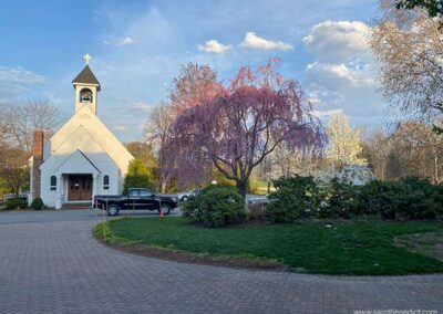 IHM Chapel in the spring