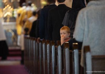 Child attends Mass