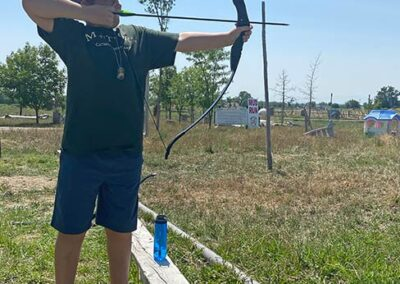 Campers learn archery