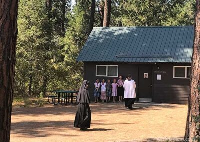 Father blesses the cabins