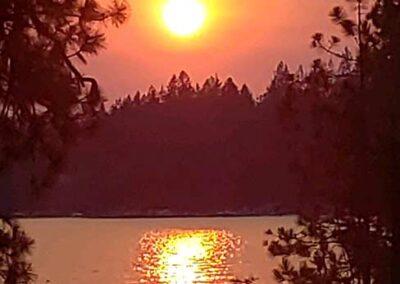 Summer sunset Idaho