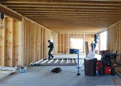 Brothers work on first floor