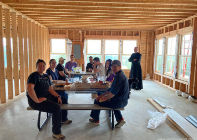 Architects volunteer at building