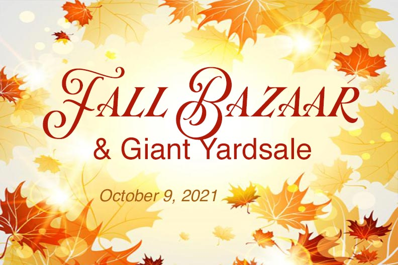 Come to the Bazaar on October 9, 2021